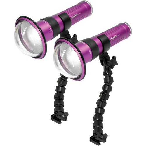 Keldan Dual LUNA-8 LA-V LED Video Light Kit