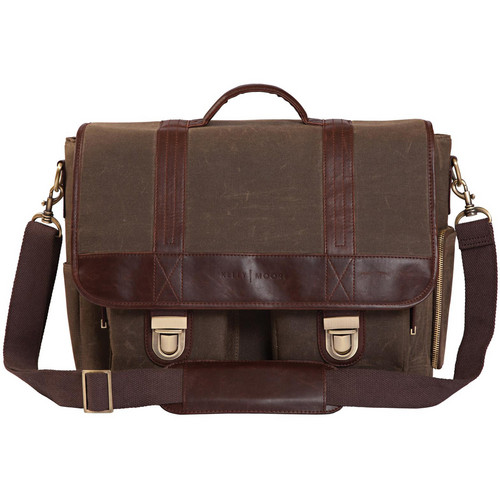Kelly Moore Bag Thirst Relief Bag/ Wax Canvas with Brown Trim