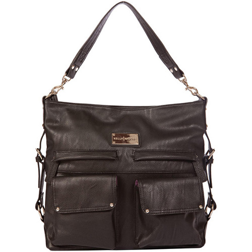 Kelly Moore Bag 2 Sues Shoulder Bag with Removable Basket (Black)
