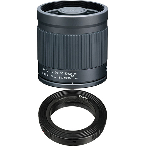 Kenko 400mm f/8.0 Mirror Lens with T-Mount SLR Camera Adapter for Sony & Minolta AF