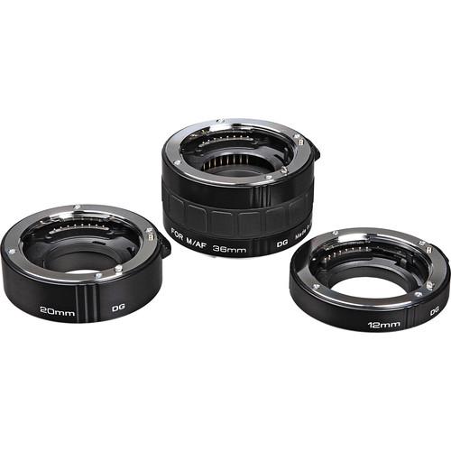 Kenko Auto Extension Tube Set DG (12, 20 & 36mm Tubes) for Sony Alpha & Minolta Maxxum Digital and Film SLR Cameras