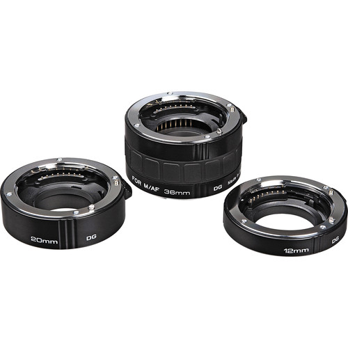 Kenko Auto Extension Tube Set DG (12, 20 & 36mm Tubes) for Sony Alpha & Minolta Maxxum Digital and Film SLR Cameras