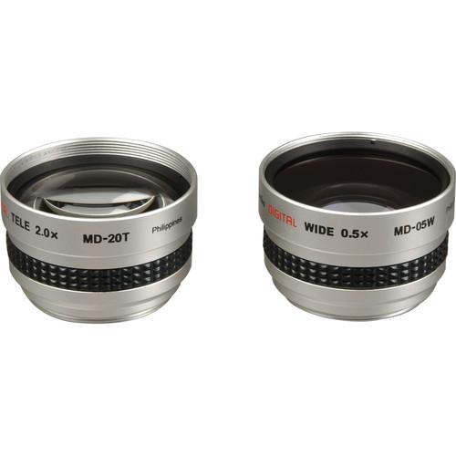 Kenko MD205S 2.0x Telephoto & 0.5x Wide Angle Lens Kit