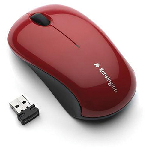 Kensington Mouse for Life Wireless 3-Button Mouse USB (Red)