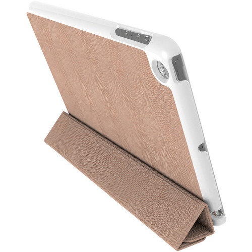 Kensington K39719AM Leather Protective Cover and Stand for the iPad mini (Tan Snake)