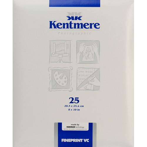 "Kentmere Fineprint VC B&W  FB Paper (8x10"", Glossy, 25 Sheets)"