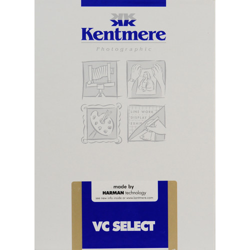 "Kentmere Select Variable Contrast Resin Coated Paper (5 x 7"", Fine Luster, 100 Sheets)"