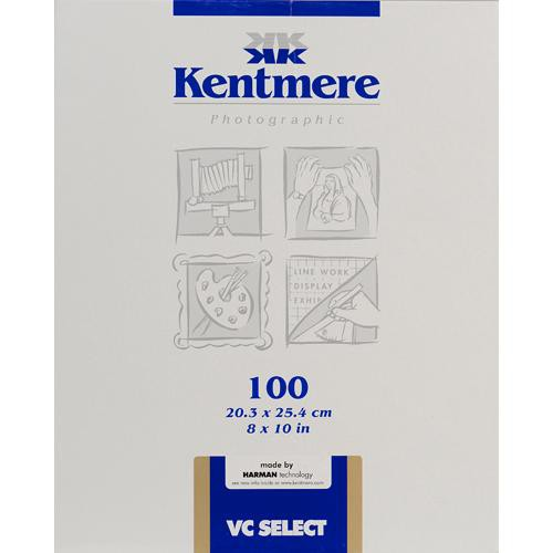 """Kentmere Select Variable Contrast Resin Coated Paper (8 x 10"""", Glossy, 100 Sheets)"""