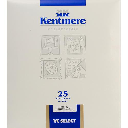 """Kentmere Select Variable Contrast Resin Coated Paper (8 x 10"""", Glossy, 25 Sheets)"""