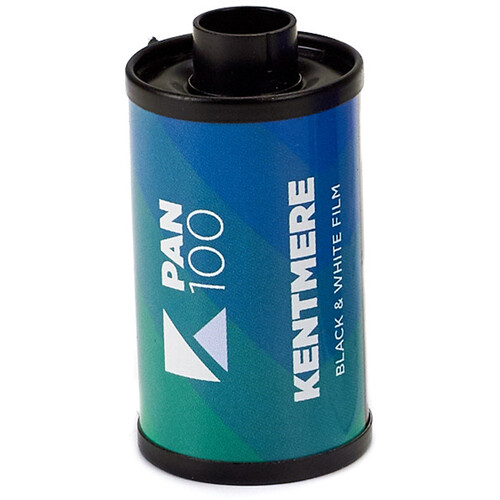Kentmere 100 ASA Black and White Negative Film (35mm Roll Film, 24 Exposures)