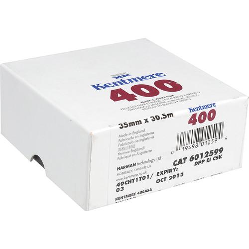 Kentmere 400 ASA Black and White Negative Film (35mm Roll Film, 100' Roll)