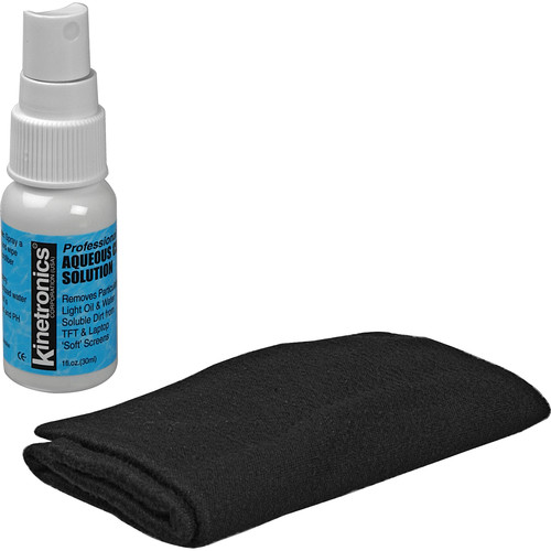 Kinetronics LCD Screen Cleaning Kit with Liquid and Cloth