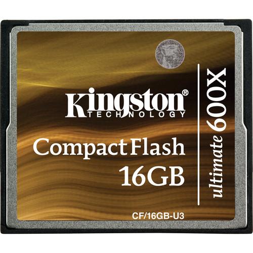 Kingston 16GB CompactFlash Memory Card Ultimate 600x