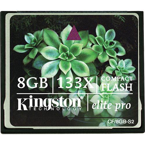 Kingston 8GB CompactFlash Memory Card Elite Pro 133x