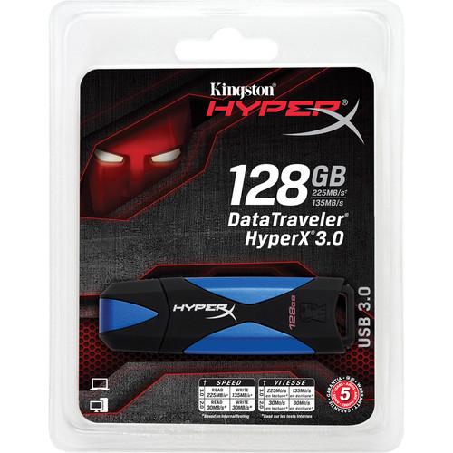 Kingston Data Traveler HyperX 3.0 USB Drive (128GB)