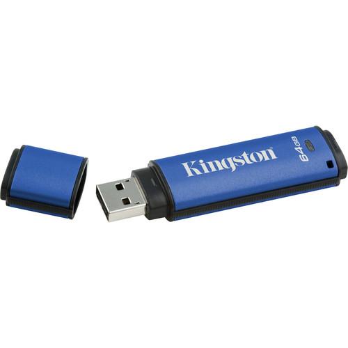 Kingston 64GB DataTraveler Vault USB 2.0 Flash Drive + 100% Privacy