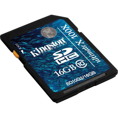 Kingston 16GB SDHC Memory Card Gen 2 Ultimate X Class 10