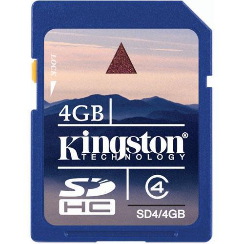Kingston 4GB SDHC Memory Card