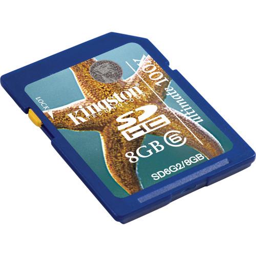 Kingston 8GB SDHC Memory Card Class 6