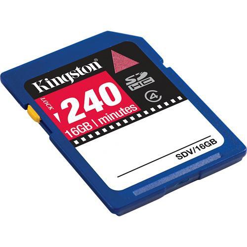 Kingston 16GB SDHC Memory Card Class 4