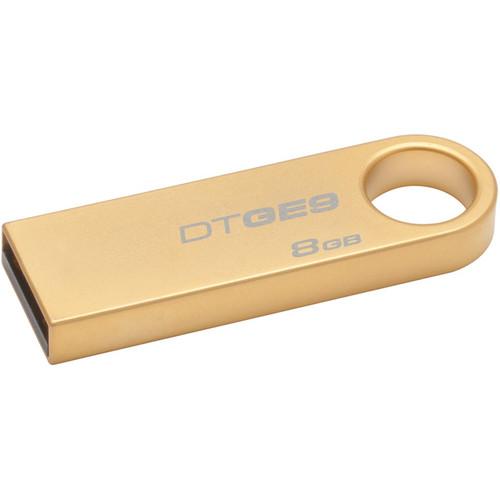 Kingston 8.0GB DataTraveler GE9 Gold-Plated USB 2.0 Flash Drive