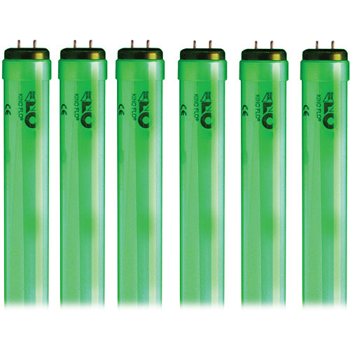 Kino Flo 4' Kino 800ma 525 Green Colored Lamp (6 Lamps)