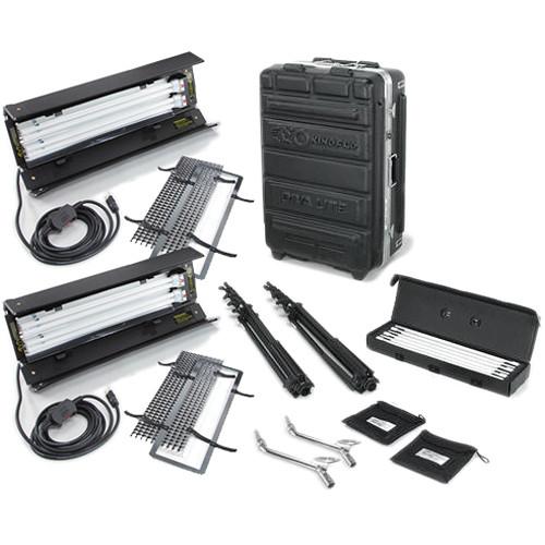 Kino Flo Dual Diva-Lite 201 Fixtures with Flight Case Kit (120VAC)