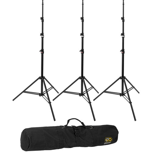 Kino Flo Medium Duty 3-Stand Kit with Carry Bag (10')