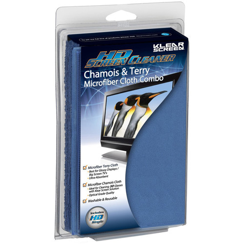 Klear Screen HD Microfiber Chamois & Terry Cloth Combo