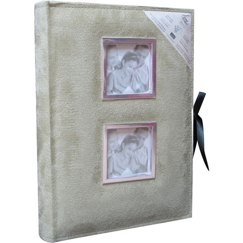"Kleer Vu Suede Collection 4x6"" Photo Album (Ivory)"