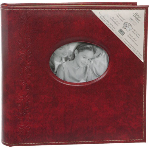 "Kleer Vu Royal Traditional Collection 4x6"" Photo Album (Burgundy)"