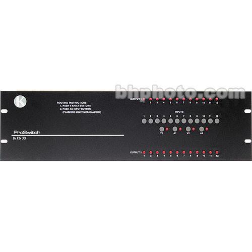 Knox Video Technologies Alpha 12x2 Unbalanced Audio Switcher