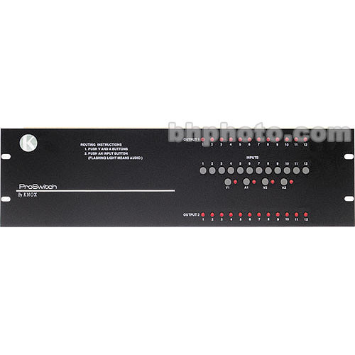 Knox Video Technologies Alpha 12x2 Balanced Audio  Switcher