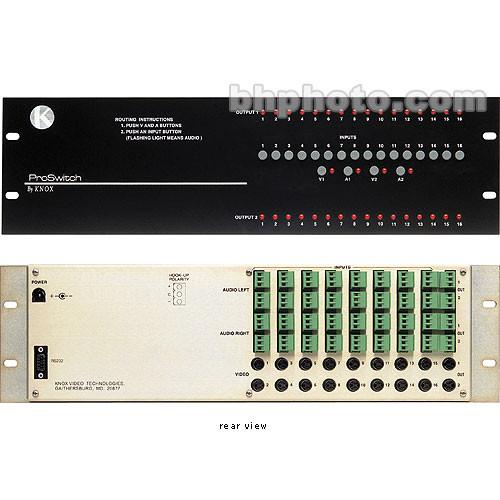 Knox Video Technologies Alpha 16x2 Audio Video Switcher