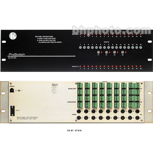 Knox Video Technologies Alpha 16x2 Audio Video Switcher