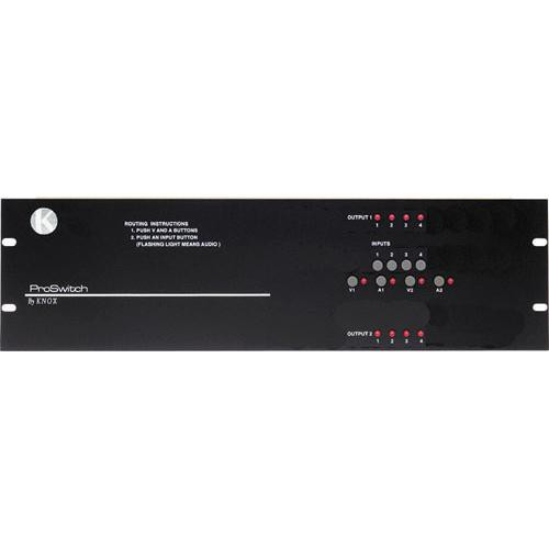 Knox Video Technologies Alpha 4x2 Audio Video Switcher