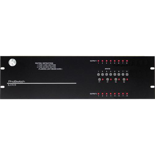 Knox Video Technologies Alpha 8x2 Unbalanced Audio Switcher