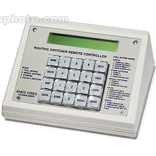 Knox Video Technologies Desktop Keypad Remote for Knox Switchers, RS-232