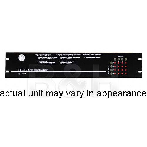 Knox Video Technologies RS-44YC Vertical Interval Matrix Switcher, 4x4