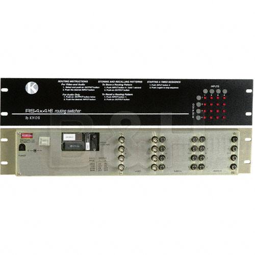 Knox Video Technologies RS-44B Matrix Switcher, 4x4, Balanced Audio