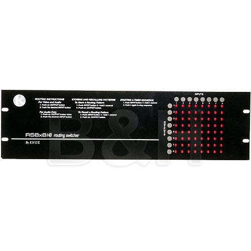 Knox Video Technologies RS-8X8CU Vertical Interval Matrix Switcher