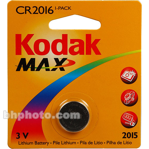 Kodak CR2016 3v Lithium Battery