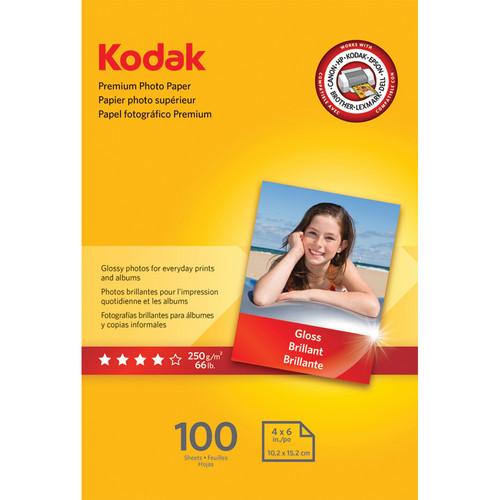 """Kodak Premium Photo Paper (Gloss) - 4x6"""" - 100 Sheets"""