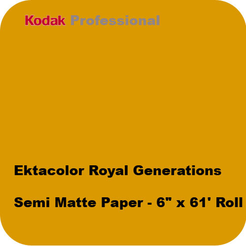 "Kodak Ektacolor Royal Generations Semi Matte Paper (6"" x 611' Roll)"