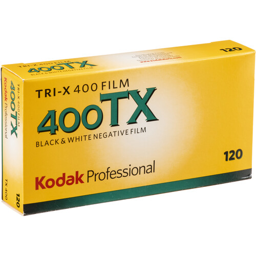 Kodak Professional Tri-X 400 Black and White Negative Film (120 Roll Film, 5-Pack)