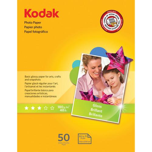 """Kodak Photo Paper Gloss - 8.5 x 11"""" - 50 Sheets"""