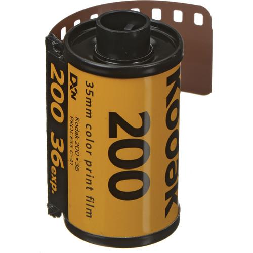 Kodak GOLD 200 Color Negative Film (35mm Roll Film, 36 Exposures)