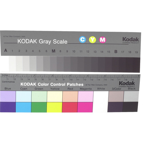 """Kodak Color Separation Guide and Gray Scale (Q-13, 8"""" Long)"""