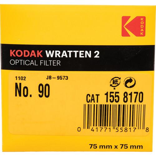 "Kodak 3 x 3"" #90 Dark Gray Amber Wratten 2 Optical Gel Filter"