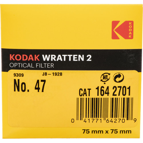 "Kodak 3x3"" (75mm) #47 Deep Blue Wratten Gel Filter"